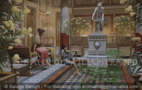 Atrium Courtyard in a Roman Aristocratic Home - Archaeology Illustrated