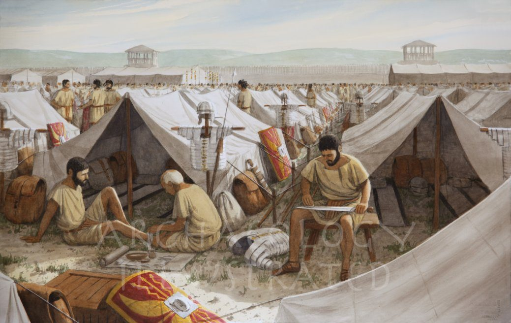 Roman Legionary Camp - Archaeology Illustrated