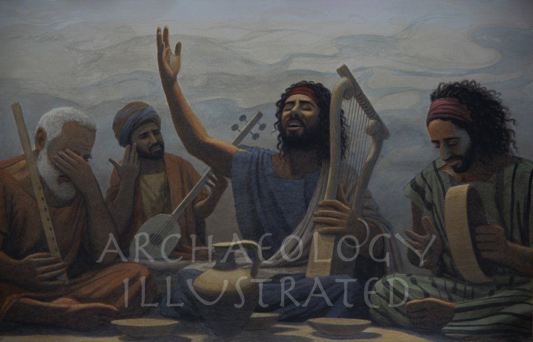 Biblical Musicians Singing Psalms about God - Archaeology Illustrated