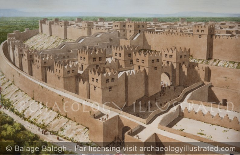 Dan, Biblical Israel's Northern Frontier. The City Gate Complex, 9th century BC - Archaeology Illustrated