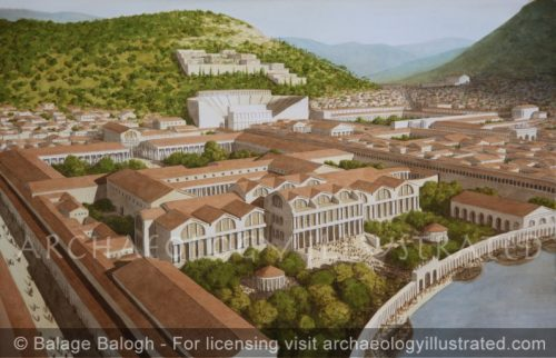 Ephesus, The Harbor Baths and Inner Harbor, 2nd century AD - Archaeology Illustrated