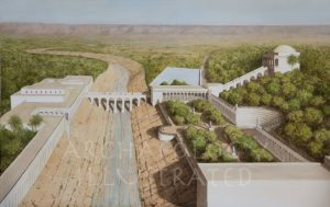 Jericho, Herod's Winter Palace, 1st century BC.  Looking East - Archaeology Illustrated