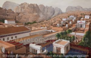 Petra, Jordan. The Great Temple and its Vicinity, 2nd century AD - Archaeology Illustrated