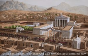 Petra, Jordan. The Great Temple and the Cardo (Main Avenue), 2nd century AD - Archaeology Illustrated