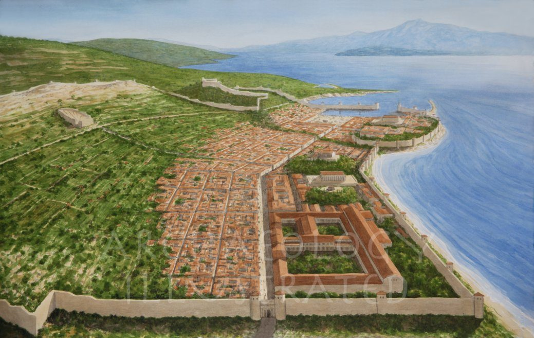 The Hellenistic city of Samos on Samos Island, Birthplace of Pythagoras - Archaeology Illustrated