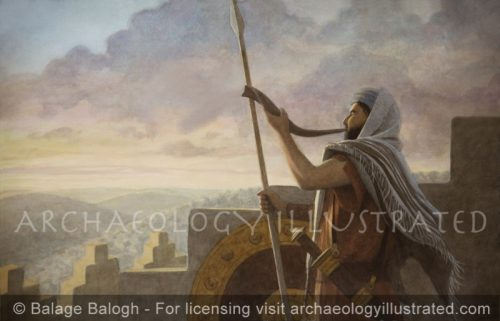 Blowing the Shofar on the Battlements in Ancient Israel - Archaeology Illustrated