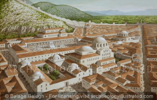 Philippi, Macedonia-Greece, The Byzantine Period Civic Center and Downtown, 560 AD - Archaeology Illustrated