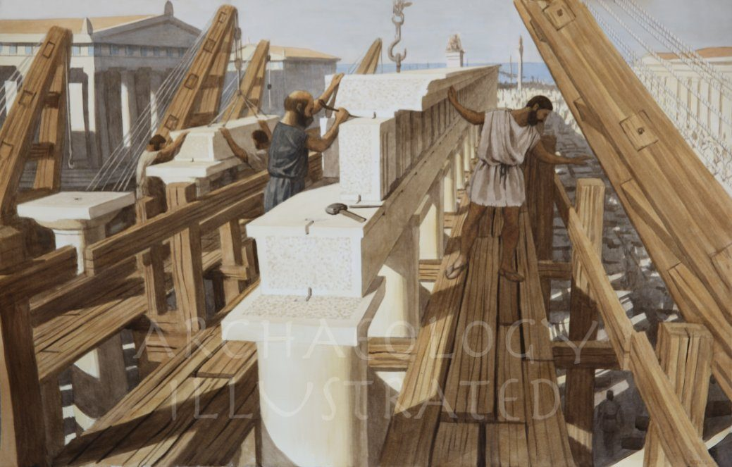 Builders in the Ancient Greek World - Archaeology Illustrated