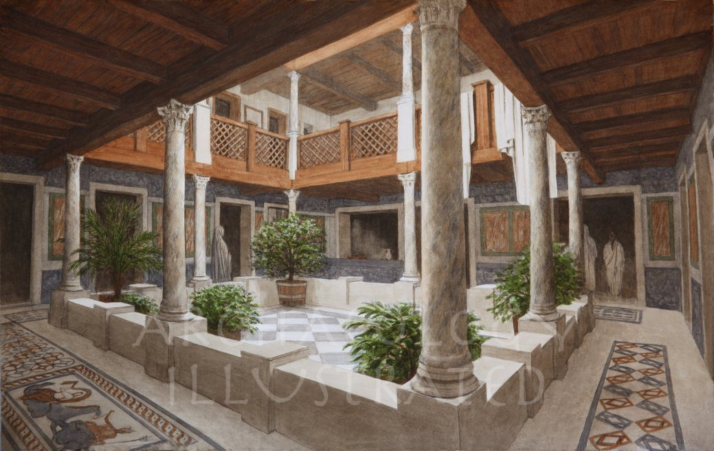 Ephesus, Late Roman Period Terrace House #2 Peristyle Courtyard in Private Home, 3rd-4th century AD - Archaeology Illustrated