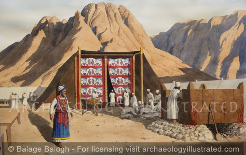 The Tabernacle (Mishkan) at Mt Sinai