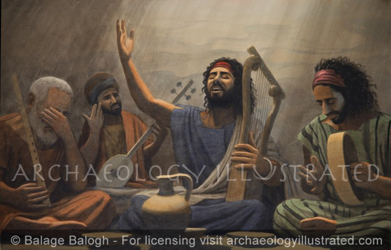 """""""Sing Psalms in the Lord's honor with the lyre"""" (Psalm 98) - Archaeology Illustrated"""