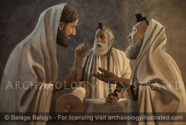 Jesus and the Pharisees in Hot Debate - Archaeology Illustrated