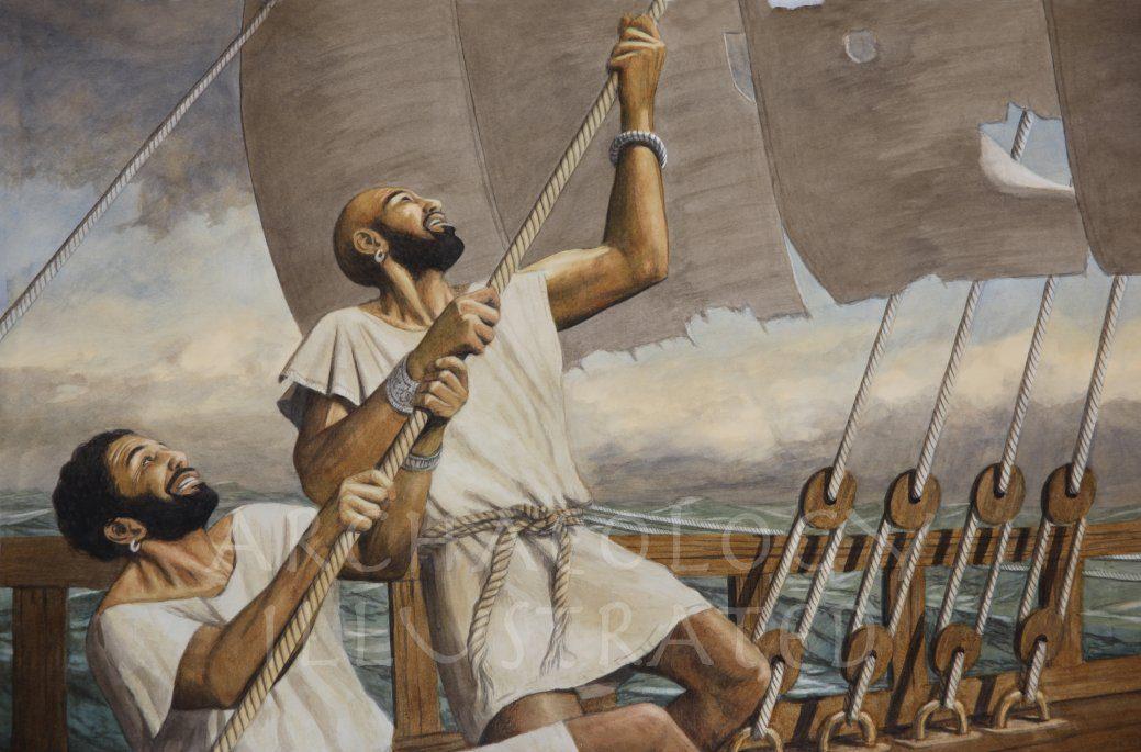Phoenician Sailors Somewhere on the Mediterranean Sea - Archaeology Illustrated