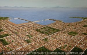 The City of Rhodes. The Three Main Harbors and the City Center, Roman Period - Archaeology Illustrated