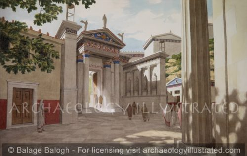 Eleusis, Greece, The Roman Period Inner Propylaea Leading into the Sacred Precinct, 1st century BC - Archaeology Illustrated