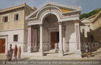 Ephesus, Roman Period Temple of Hadrian on Curetes Street as it Originally Appeared in the 2nd Century AD - Archaeology Illustrated