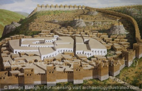 Hattusha, Capital of the Hittite Empire, The Great Temple and the Acropolis, around 1300 BC - Archaeology Illustrated