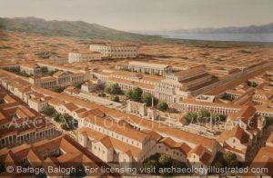 Corinth, Roman Period. The City Center with the Forum and the Theater complex, end of 2nd Century AD - Archaeology Illustrated