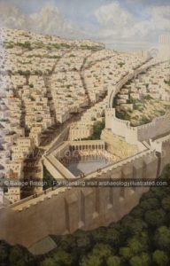 Jerusalem, Pool of Siloam, 1st century AD, Looking North - Archaeology Illustrated