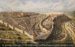 Jerusalem in the 1st century AD, View from the South - Archaeology Illustrated