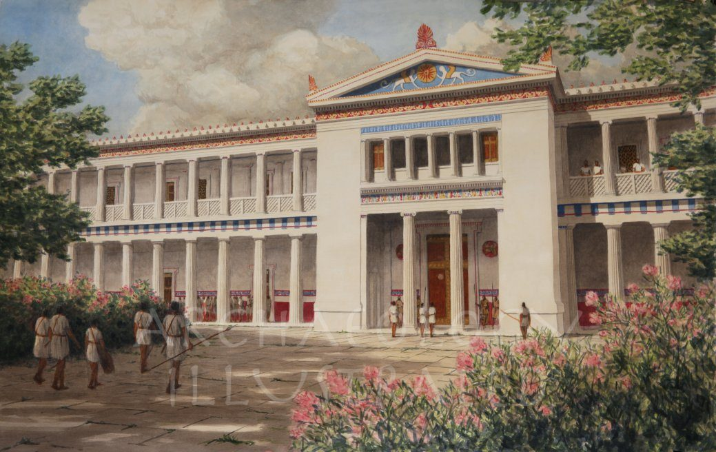 Pella, Macedonia. The Hellenistic Period Palace of Alexander the Great, Main Entrance, 4th century BC - Archaeology Illustrated