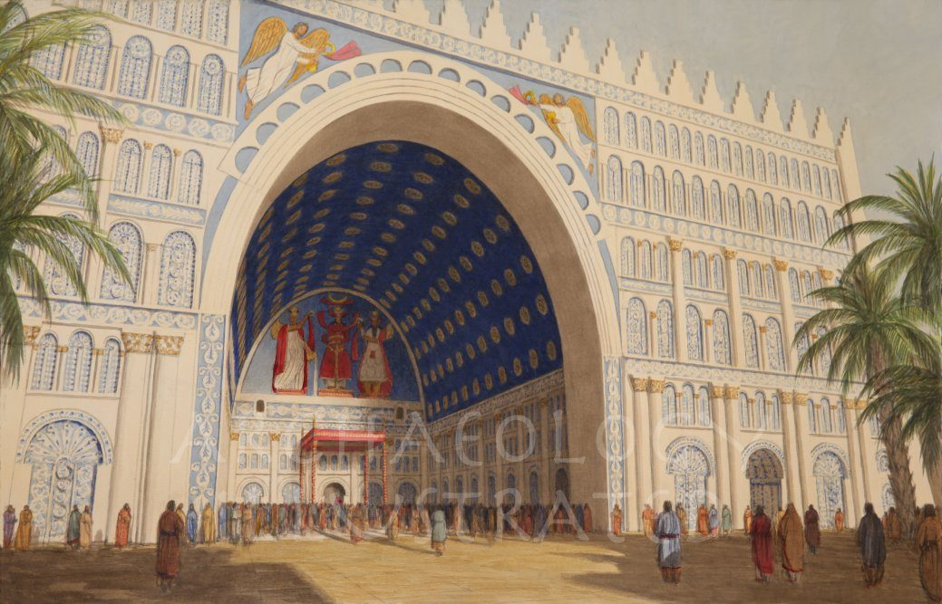 The Taq-e Kasra, Royal Audience Hall of the Sasanian Kings of Iran in Ancient Ctesiphon, Iraq, Their Capital. The Tallest Brick Arch in the World, 6th c.AD - Archaeology Illustrated