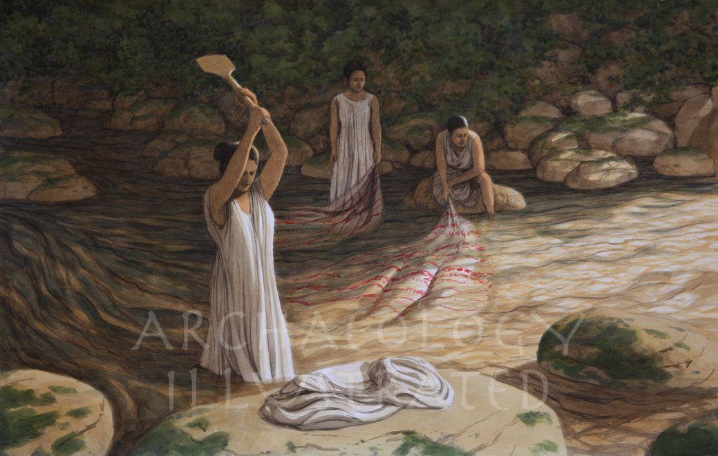 Women Doing Laundry - Archaeology Illustrated