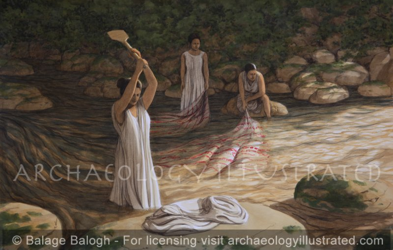 Women Doing Laundry - Archaeology Illustrated