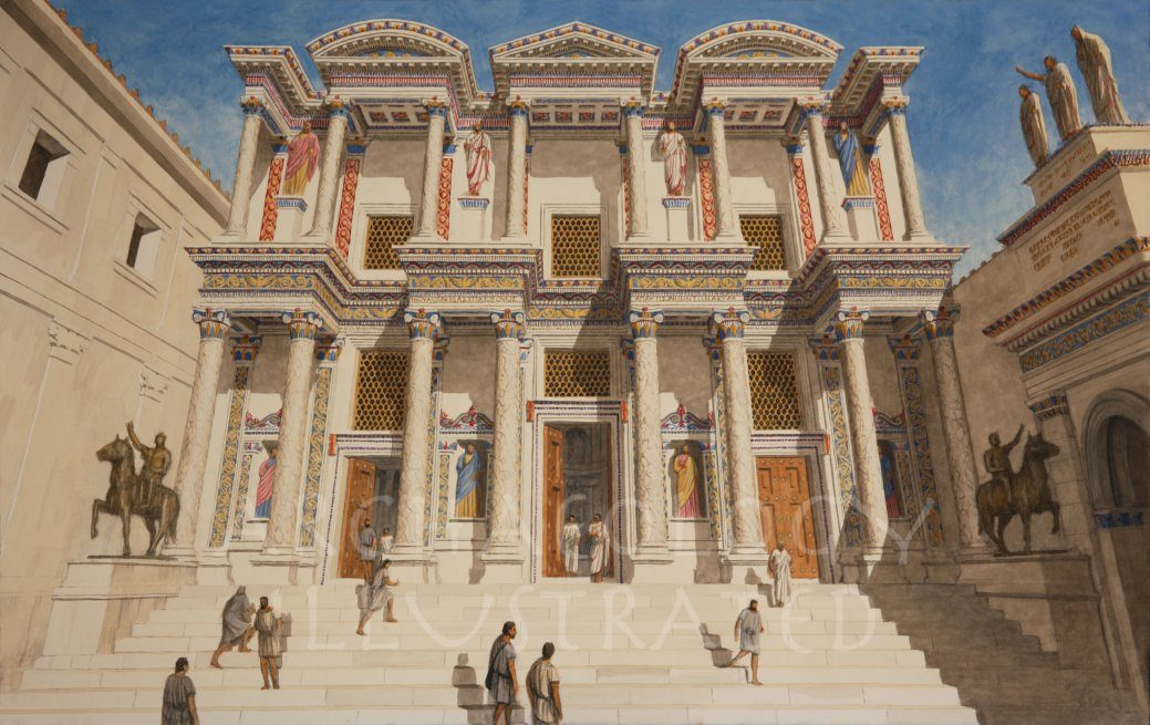 Ephesus, Library of Celsus, Roman Period, 2nd Century AD - Archaeology Illustrated
