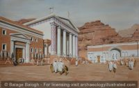 Petra, The Qasr el-Bint Area as it Appeared in the Roman Period, 2nd-3rd Centuries AD - Archaeology Illustrated