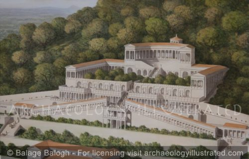 Praeneste (Palestrina), Italy, East of Rome: The Sanctuary of Fortuna Primigenia, around 120 BC - Archaeology Illustrated