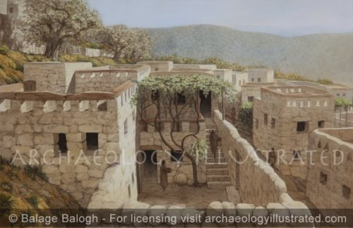 """Nazareth, Reconstruction of the Remains of a House under the """"Sisters of Nazareth Convent"""" Proposed to be that of Jesus's Childhood Home - Archaeology Illustrated"""