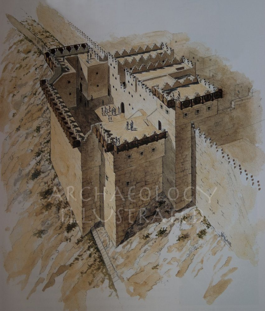 Jerusalem, The Gate Complex on the Eastern edge of the Ophel Believed to be the Biblical Water Gate.  9th century BC. Looking South - Archaeology Illustrated