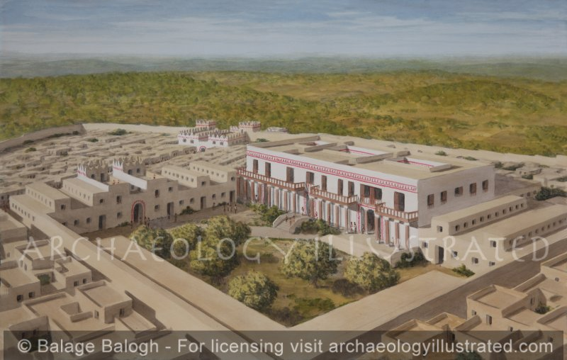 Lachish, Judaea, in Hezekiah's Time. The Governor's Palace, Horse Stables and Supply Depot, 8th Century BC - Archaeology Illustrated