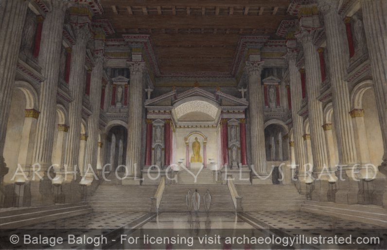 Baalbek, Lebanon, The Reconstructed Interior of the Roman Period Temple of Dionysus, 2nd century AD - Archaeology Illustrated