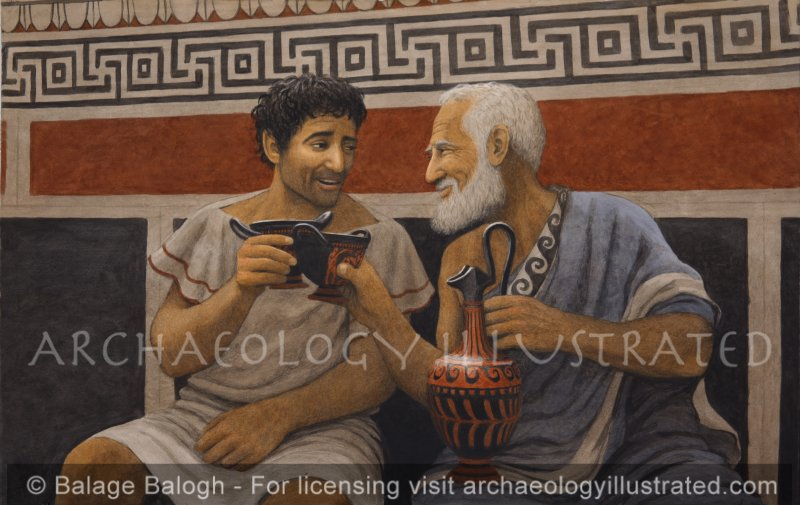 Father and Son, and a Jug of Wine - Archaeology Illustrated