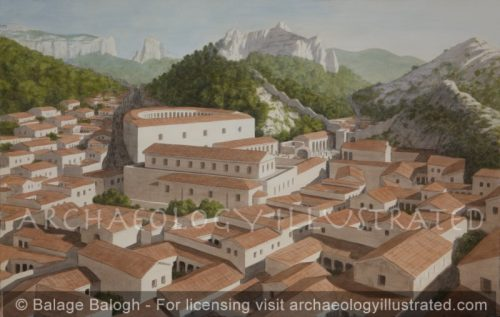 The City Center of Glanum in Provence, France, a Small Provincial Roman Town of Southern Gaul, 1st Century AD - Archaeology Illustrated
