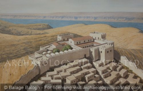 The Fortress of Machaerus, Jordan, in the Time of Herod Antipas and John the Baptist, Overlooking the Dead Sea and the Judean Desert - Archaeology Illustrated