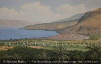 Magdala and the Sea of Galilee Looking towards Tiberias, 1-4th Centuries AD - Archaeology Illustrated