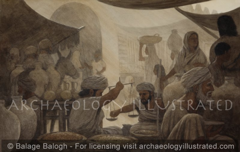 Street Market in Ancient Jerusalem - Archaeology Illustrated