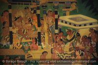 Ajanta Cave 1, The Mahajanaka Jataka Wall Painting Reproduction in its Original Colors - Archaeology Illustrated