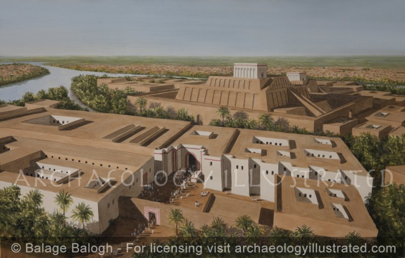 Kish East (Tell_Ingharra), Sumer.  The Royal Palaces and the Ziggurats in the EarlyDynastic III Period - Archaeology Illustrated