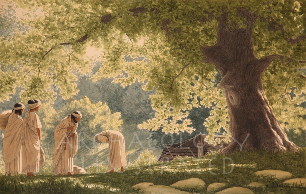Abraham Receives at his Tent the ThreeAngels (Genesis 18) - Archaeology Illustrated