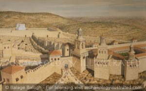 Jerusalem, The Western Gate with the Towers of Phasael, Hippicus and Mariamne, 1st Century AD - Archaeology Illustrated