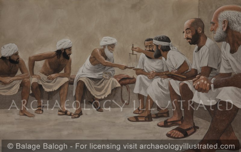 Abraham Purchasing the Cave of Machpela from the Hittites in the City Gate of Hebron - Archaeology Illustrated