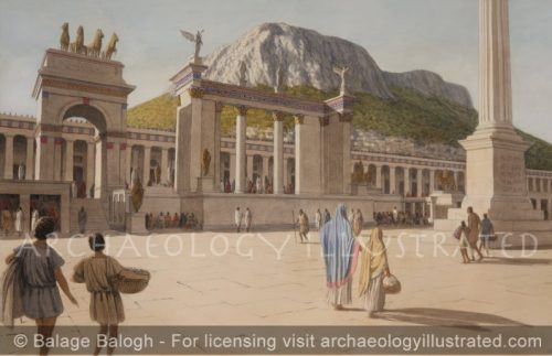 Corinth, The Bema on the Forum, The Political and Judiciary Center of the City where Paul the Apostle was Taken to be Tried, 1st century AD - Archaeology Illustrated