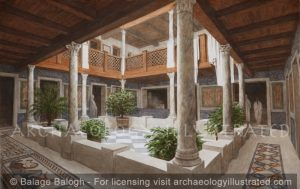 Ephesus, Late Roman Period Terrace House #2, the Peristyle Courtyard in Private Home 3-4th century AD - Archaeology Illustrated