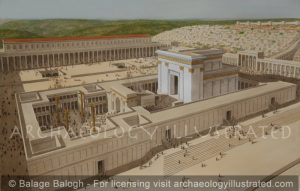 Jerusalem, The Second Temple (The Temple of Herod), aka The Beth haMikdash in Morning Light, 1st century AD - Archaeology Illustrated