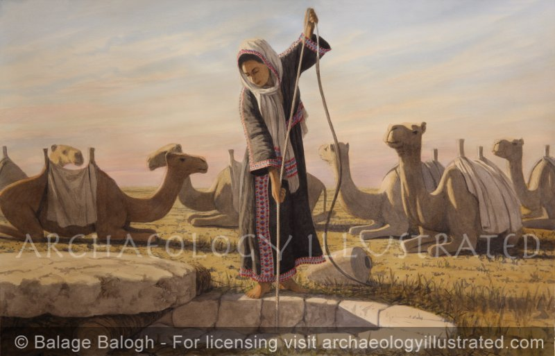 Rebecca at the Well, Genesis 24:13 - Archaeology Illustrated