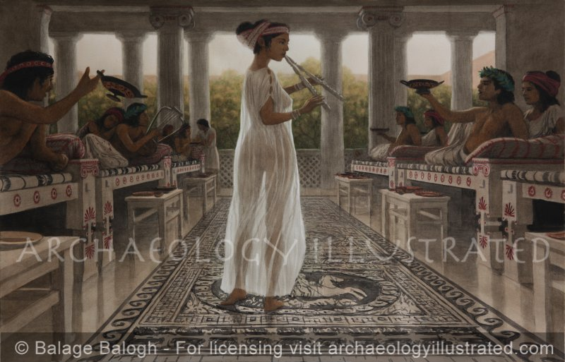 Symposium in Ancient Greece, 5-4th century BC. All Details are Based on Ancient Greek Vase Paintings - Archaeology Illustrated